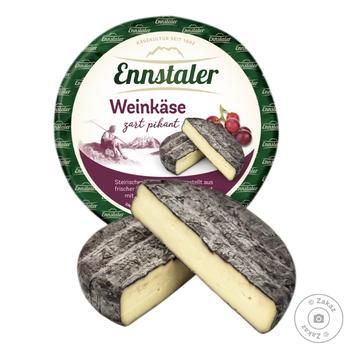 Сыр Ennstaler Weinkase выдержанный в красном вине 65% - купить, цены на Восторг - фото 1