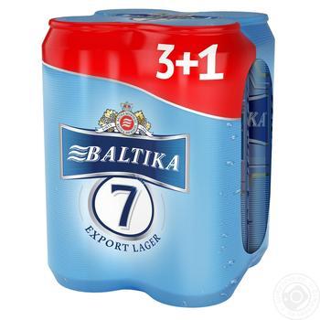 Пиво Baltika 7 Export Lager 4*0.5л