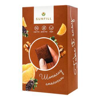 Конфеты Sunfill Шоколадно-апельсиновые без сахара и глютена 150г