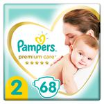Подгузники Pampers Premium Carе New Born 2  4-8кг 68шт