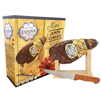 Хамон Курадо Espana міні сиров'ялений в подарунковій упаковці 1кг - купити, ціни на УльтраМаркет - фото 1