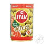 olive Itlv salmon green stuffed 314ml can - buy, prices for MegaMarket - photo 1