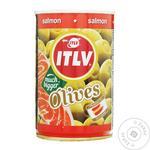Оливки ITLV зелені з лососем 314мл - купити, ціни на МегаМаркет - фото 1