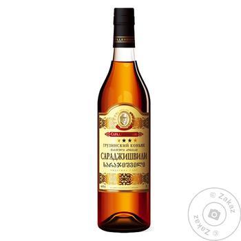 Sarajishvili 5* Cognac 40% 0.5l - buy, prices for Auchan - photo 1