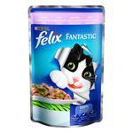 Корм Felix Fantastic З фореллю та зеленими бобами у желе для дорослих котів 100г
