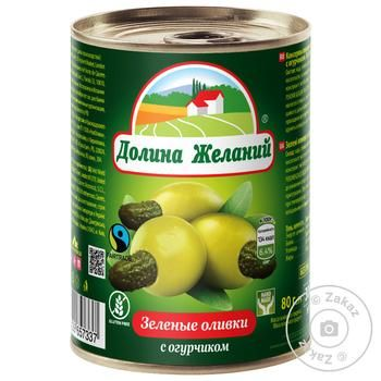 Dolina Jelaniy Green Olives with Cucumber 260g - buy, prices for MegaMarket - image 1