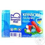 Crab sticks Vodnyi mir crab precooked 240g Ukraine