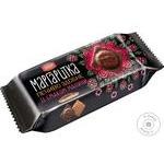 Печенье Делиция Маргаритка сдобное в темной глазури со вкусом малины 150г