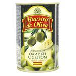 Оливки зеленые Maestro de Oliva с сыром 300мл