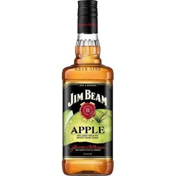 Напій алкогольний Jim Beam Apple 35% 1л - купити, ціни на МегаМаркет - фото 1