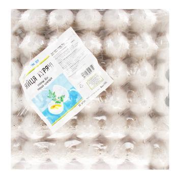 Яйцо куриное Каждый день столовое белое С1 30шт - купить, цены на Ашан - фото 1