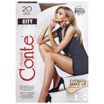 Колготки женские Conte City 20ден р.2 Bronz