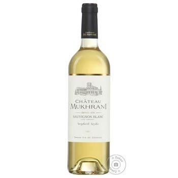 Wine sauvignon-blan Chateau mukhrani white semisweet 13% 750ml glass bottle Georgia - buy, prices for MegaMarket - image 1