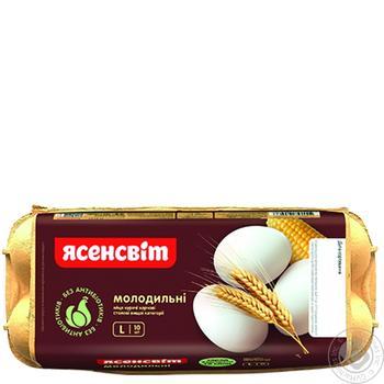 Яйца куриные Ясенсвит Молодильные С0 10шт - купить, цены на Восторг - фото 1