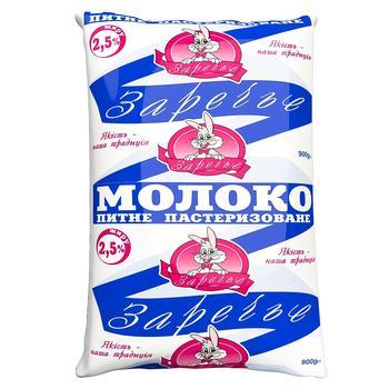 Молоко Заріччя пастеризоване 2,5% 900г
