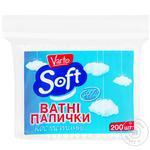 Ватные палочки Varto Soft косметические 200шт - купить, цены на Varus - фото 1