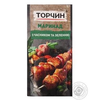 Маринад Торчин С чесноком и зеленью 160г - купить, цены на Novus - фото 1