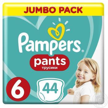 Підгузки-трусики Pampers Extra Large 6 16+ кг 44шт - купити, ціни на Ашан - фото 4