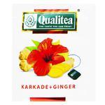 Чай трав'яний Qualitea каркаде та імбир 2г