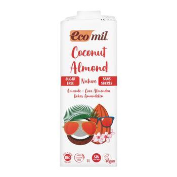 Растительное молоко Ecomil Кокос-миндаль без сахара органическое 1л - купить, цены на Ашан - фото 1