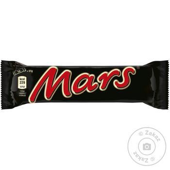 Батончик Mars з нугою і карамеллю в молочному шоколаді 51г - купити, ціни на МегаМаркет - фото 1