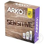 Набір Arko Піна д/гоління Sensitive 200мл+гель 260м