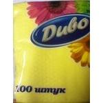 Салфетка Диво бумажная для сервировки 100шт 92г Украина