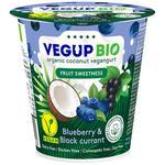Йогурт Vegup БИО растительный кокосовый черная смородина 140г