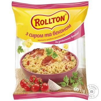 Rollton quick cooking with bacon and chicken pasta 60g - buy, prices for CityMarket - photo 1