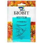 Сухий корм для акваріумних риб Природа в пластівцях Біовіт Універсал 10г