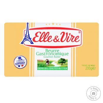 Масло Elle & Vire сливочное соленое 80% 200г - купить, цены на Восторг - фото 1