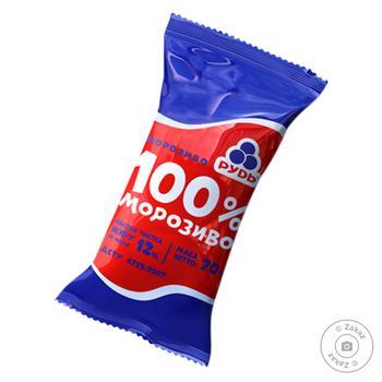 Мороженое Рудь 100% вафельный стаканчик 70г - купить, цены на Метро - фото 1