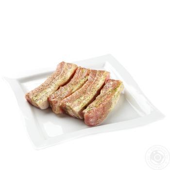 Ребра свиные в маринаде для гриля охлажденные весовые