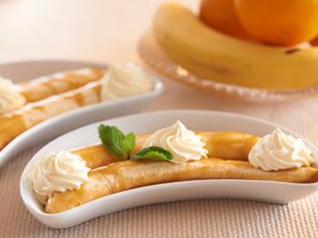 Бананы с ванильным кремом