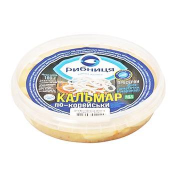 Fillet squid Rybnytsya preserves 180g - buy, prices for Tavria V - image 1
