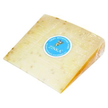 Сыр Zinka Гауда с горчицей козий твердый 50%