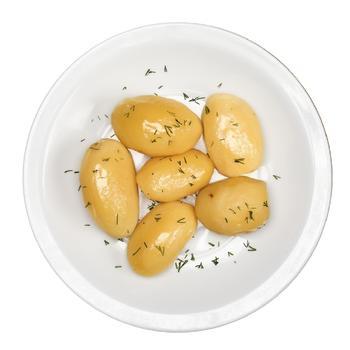 Картопля молода варена з кропом
