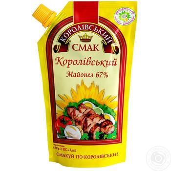 Майонез Королівський смак Королівський 67% 650г - купити, ціни на Novus - фото 1