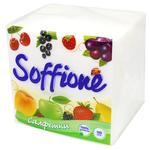Серветки Soffione одношарові 24х24см 100шт