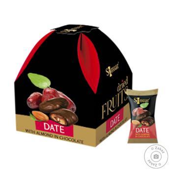 Конфеты Mark Sevouni финик с миндалем в шоколаде 150г - купить, цены на Восторг - фото 1