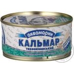 Seafood squid Akvamaryn canned 185g can