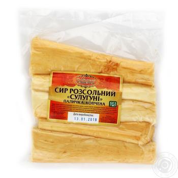 Сыр Молочная Империя Сулугуни рассольный палочка копченная - купить, цены на Ашан - фото 1