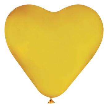 Шарик воздушный Слон Сердце металлик большая
