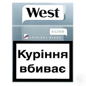 Сигареты West Original Blend Silver 25шт - купить, цены на Фуршет - фото 1