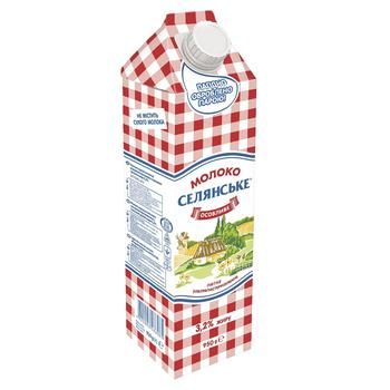 Selianske Special Ultra-Pasteurized Milk 3,2% 950g - buy, prices for CityMarket - photo 1