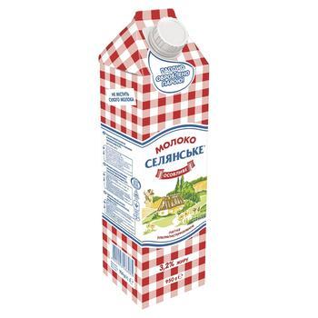 Молоко Селянське Особое ультрапастеризованное 3,2% 950г - купить, цены на СитиМаркет - фото 1