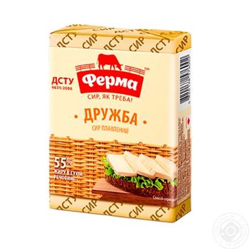 Processed cheese Ferma Druzhba 55% 90g Ukraine - buy, prices for Auchan - image 1