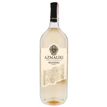 Вино Aznauri Ркацители белое сухое 1.5л - купить, цены на Ашан - фото 1