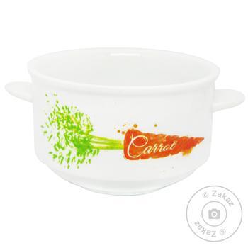 Чашка супова Keramia Морква 400мл - купити, ціни на МегаМаркет - фото 1