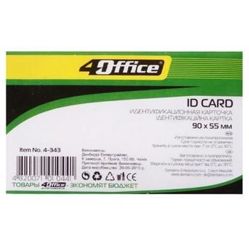 4Office №4-343 Identification Card 90*55mm - buy, prices for Auchan - photo 1